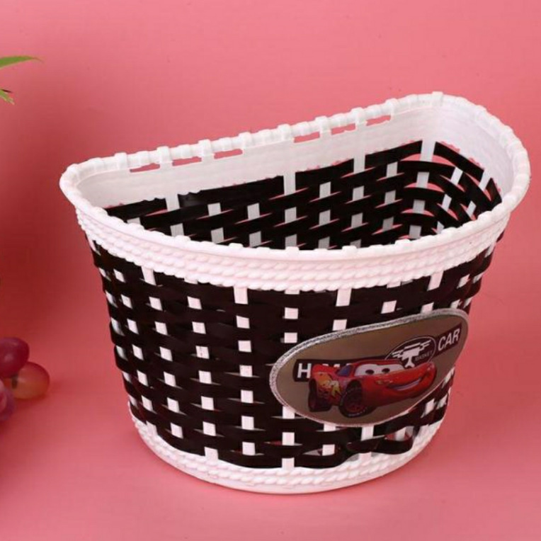 Car Princess Icon Scooter Only Handmade Woven Basket 4 Color Customizable Compressive Boutique Basket Plastic Series|  - title=