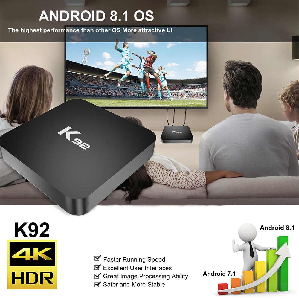 K92 Smart TV Box Android 8.1 S905X2 64 bits 2.4G/5G WiFi UHD 4K VP9 H.265 4GB DDR4 32 GB/64 GB EMMC Android tv box