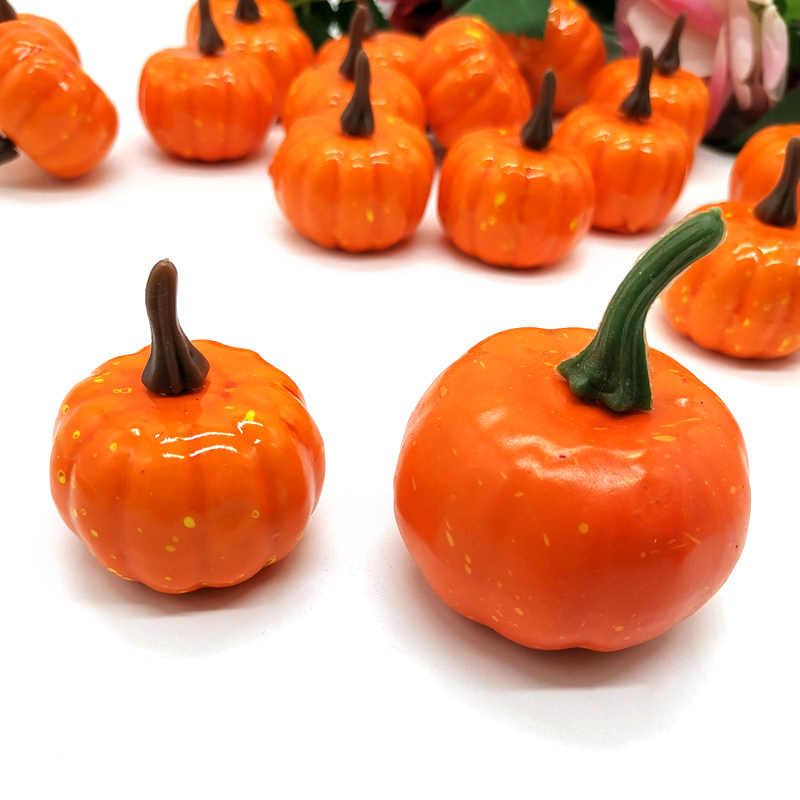 Decoración calabaza Halloween Props Faux verduras juego de simulación fotografía alimentos accesorios tienda fiesta Halloween jardines de infantes