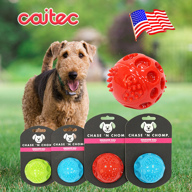 Durable Floatable Springy Squeaking Bouncing Ball - Bite Resistant for Small to Large Dogs 1