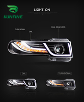 Car Styling Car Headlight Assembly For Toyota FJ CRUISER 2007 UP LED Head Lamp Car Tuning Light Parts Plug And Play