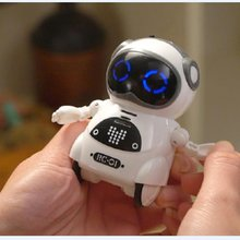 2019 HOT Intelligent Mini Pocket Robot Walk Music Dance Light Voice Recognition Conversation Repeat Smart Kids Toy Interactive стоимость