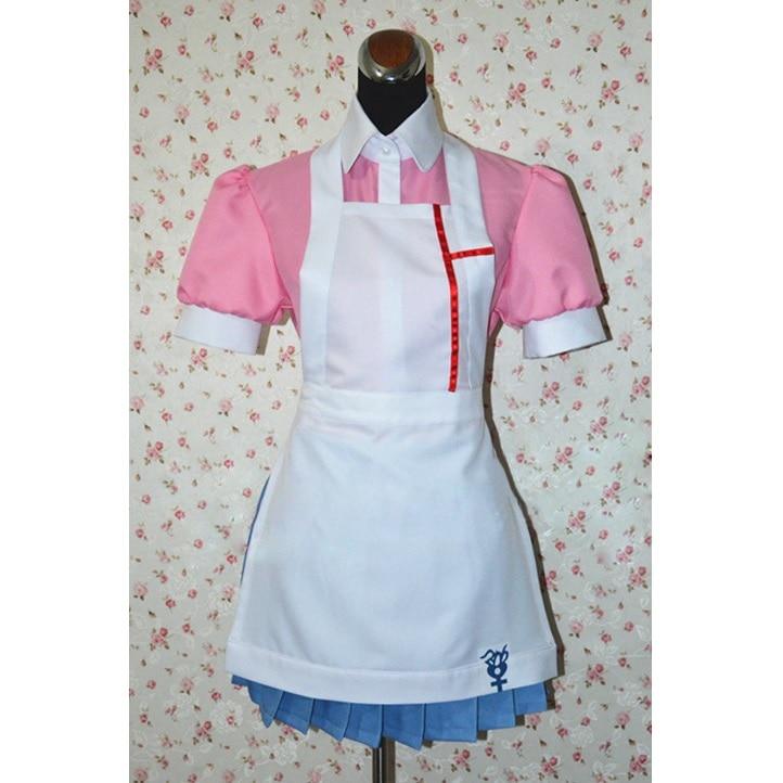 Anime Danganronpa Cosplay Costume Mikan Tsumiki Cosplay Costume Women Uniform Maid Outfit Apron DressGame Costumes   -