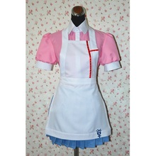 Anime Danganronpa Cosplay Costume Mikan Tsumiki Cosplay Costume Women Uniform Maid Outfit Apron Dress