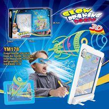 3d волшебный коврик для рисования доска детский светодиодный