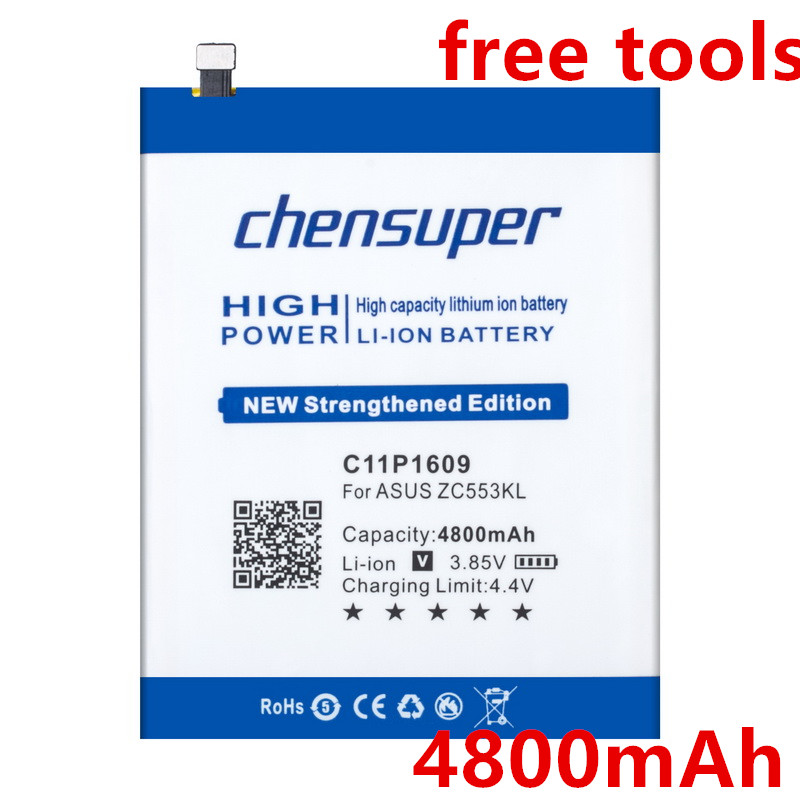 chensuper Newest 4800mAh <font><b>Battery</b></font> for <font><b>ASUS</b></font> C11P1609 Zenfone 3 max 5.5