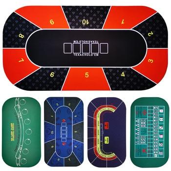 1.2*0.6m Hold'Em Texas Poker Mat Black Jack Baccarat Dice Durable Rubber Home Gaming Desk Pad