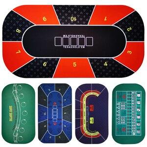 1.2*0.6m Hold'em Texas Poker Mat Black Jack Baccarat dice Mat Durable rubber Home gaming desk pad(China)