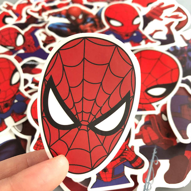 35Pcs Movie Spiderman Stickers Graffiti Skateboard Laptop Luggage Suitcase Car Moto Waterproof Home Sticker