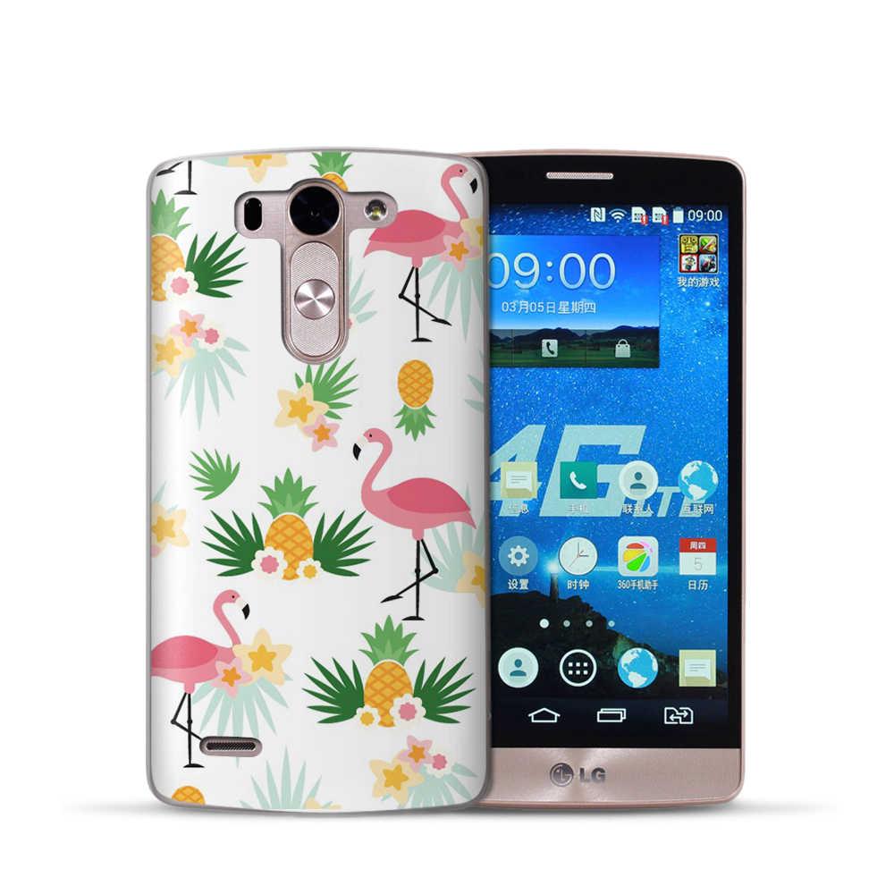 Flamingo DC 2019 Fall Für LG G4 G5 G6 Q8 Q6 K8 K7 K10 2017 X Power2 3 V30 X bildschirm Weichen TPU Silikon Zurück Coque Schutzhülle