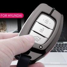 Чехол для автомобильного ключа для Hyundai Creta I10 I20 IX25 IX35 I30 I40 Santa Fe Verna Sonata Elantra Tucson, чехол для автомобильного ключа, чехол для ключа