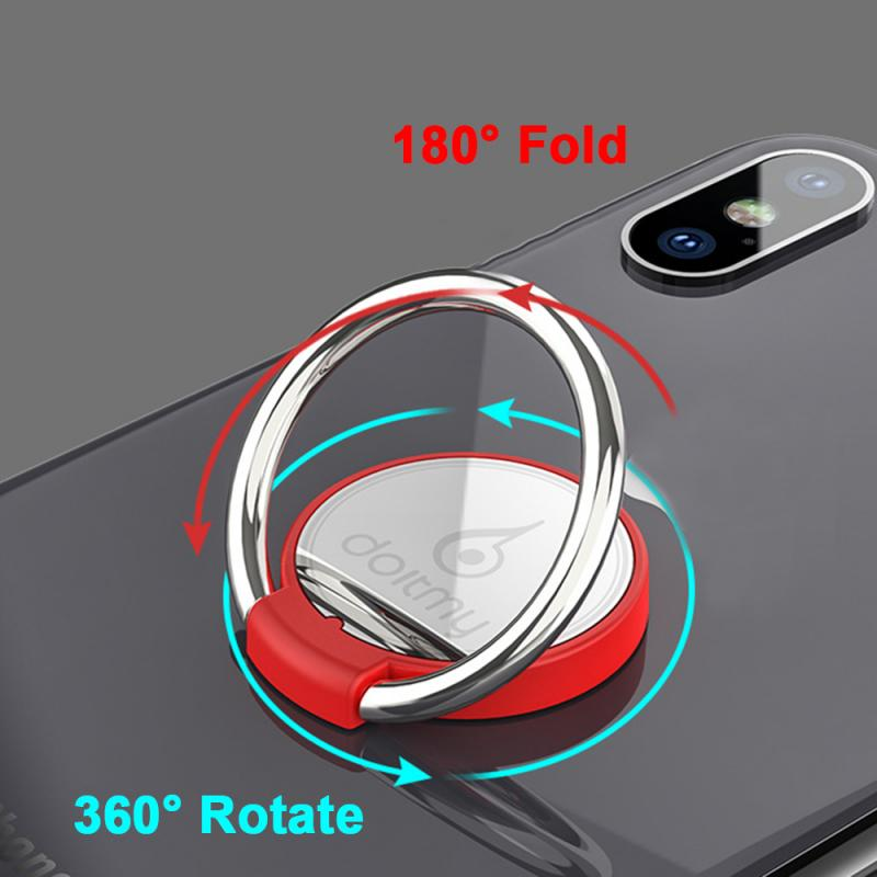 Doitmy Creative Round Holder Portable Fixed Supplies Stent Stand Multi-Function Car Phone  Ring Buckle Mobile Phone Holder TSLM1