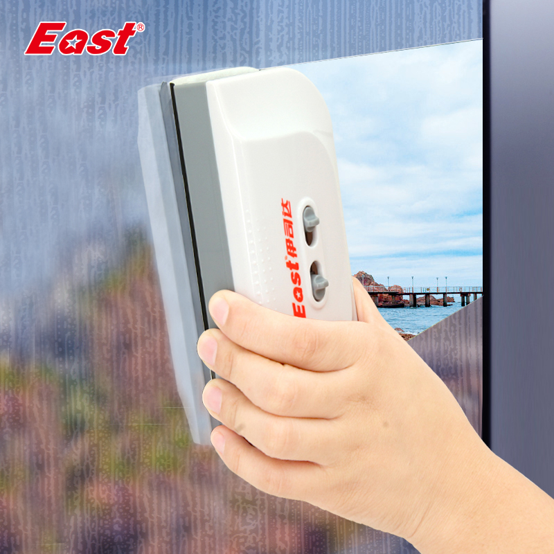 East Double-sided Window Cleaner Wiper Magnet Glass Cleaner For 3-8mm / 3-28mm Glazing Cleaning Tools