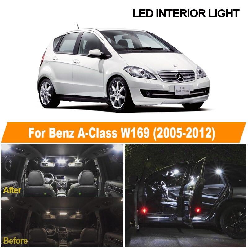 12 шт., светодиодные лампы для номерного знака Mercedes Benz A Class W169 2005 2010 2011 2012 Сигнальная лампа      АлиЭкспресс