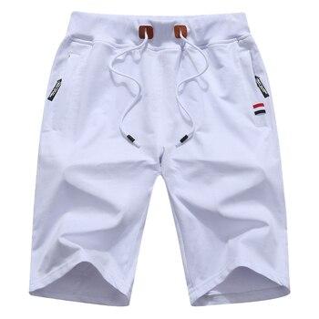 Men's Summer Breeches Shorts 2021 Cotton Casual Bermudas Black Men Boardshorts Homme Classic Brand Clothing Beach Shorts Male 4