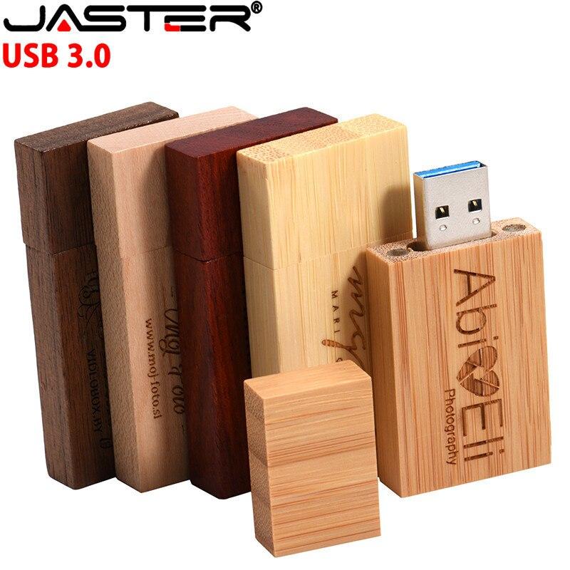 JASTER 5 Colour Maple Carbonized Walnut Wood Usb Flash Drive Pendrive 4GB 8GB 16GB 32GB Maple Usb 3.0 Wooden LOGO Print