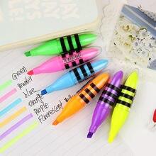 6 pièces/paquet mignon abeille Mini surligneur stylo 6 couleurs surligneurs fournitures de papeterie scolaire