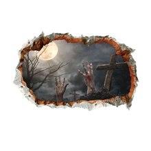 V Хэллоуин 3d hole ghost ручная наклейка вечерние наклейки на