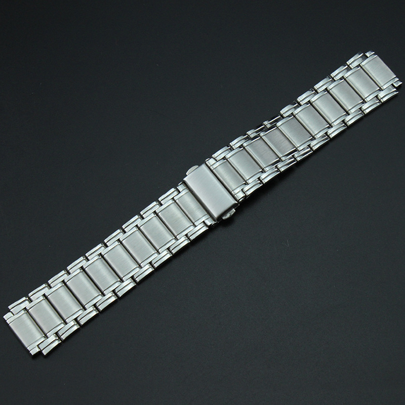 Watch Accessories Watch Band Stainless Steel Watch Band Clean Steel Bracelets MEN'S Watch with 18 Mm Watch Strap