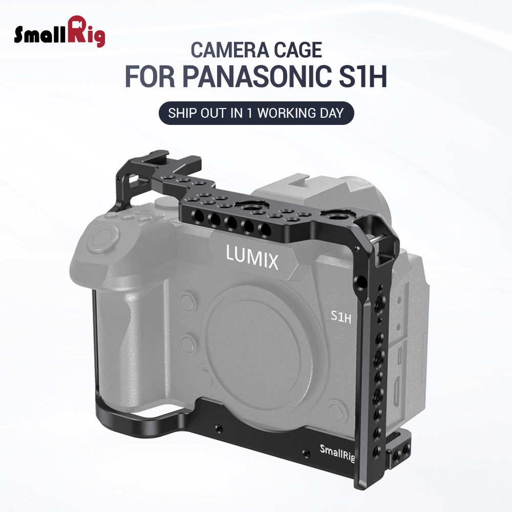 SmallRig S1H Cage For Panasonic S1H Camera W/ Cold Shoe Mount & Nato Rail Fr EVF Mount Microphone DIY Option Video Shooting 2488