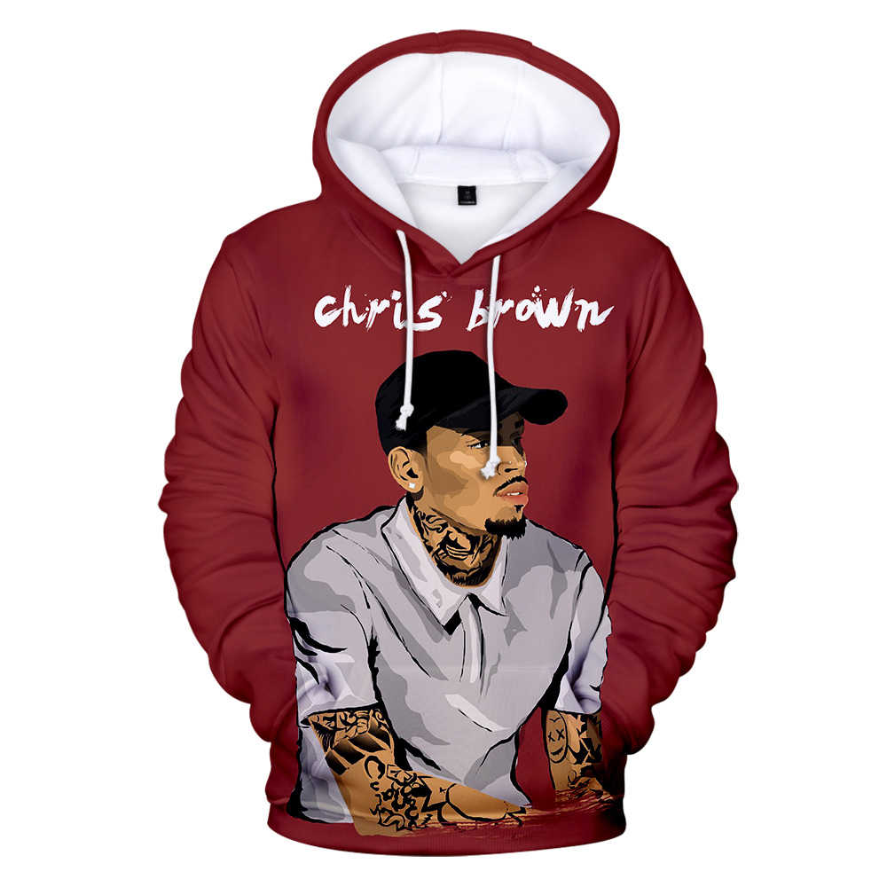 Pop Singer Chris Brown 3D Printed Hoodie Men's Sweatshirt Women Hip Hop Harajuku Streetwear Chris Brown Adults and children Coat