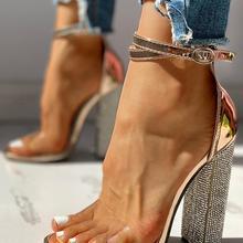 Sexy High Heels Women Pumps Gold Rhinestone Heels Ladies Shoes