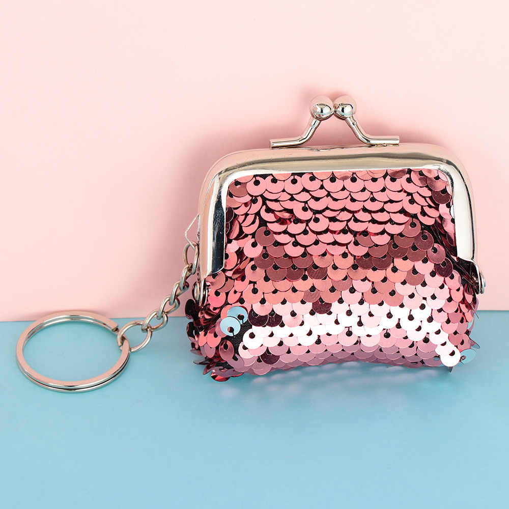 US Girls Lady Sparkling Dazzling Purse Party Bags Glitter Sequins Bag Kids Coin