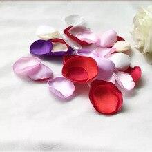 BacklakeGirls Новинка Горячая Распродажа Романтический искусственный цветок Атлас 50 Piceces лепестки роз для украшения свадьбы