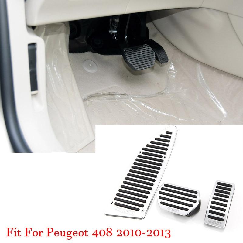 Couvercle de plaque de pédale de repose-pieds de frein à gaz accélérateur en alliage pour Peugeot 408 2010-2013 AT