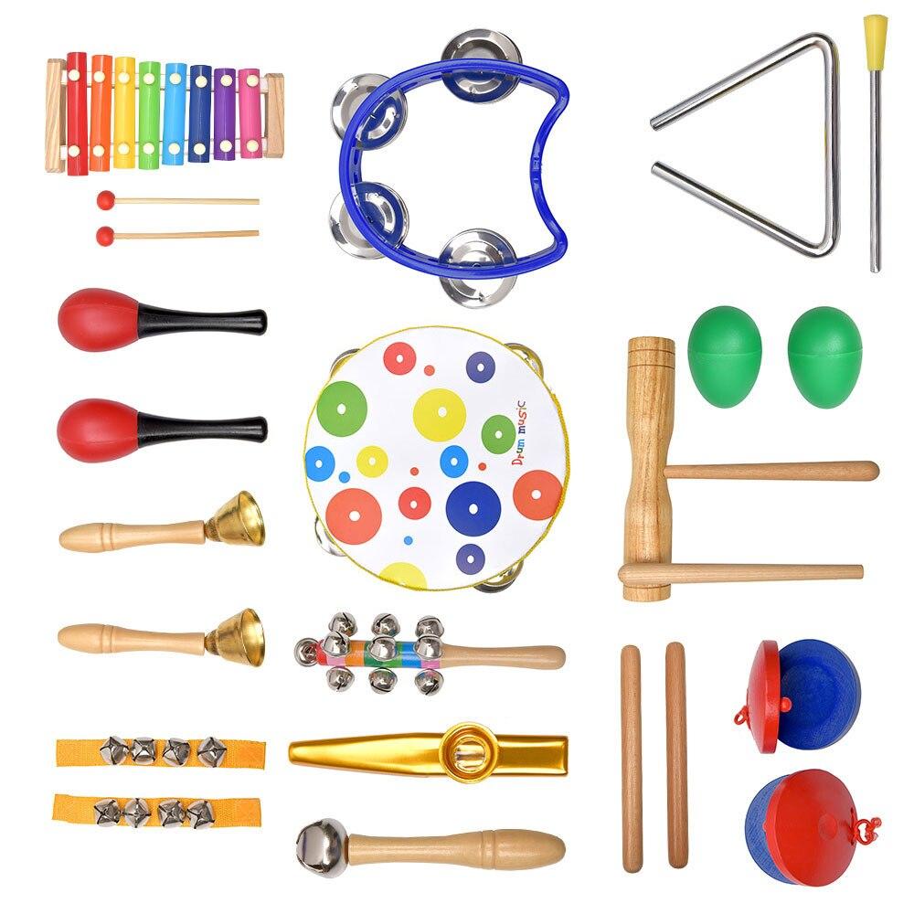 de ritmo, chocalhos de madeira, presentes para crianças