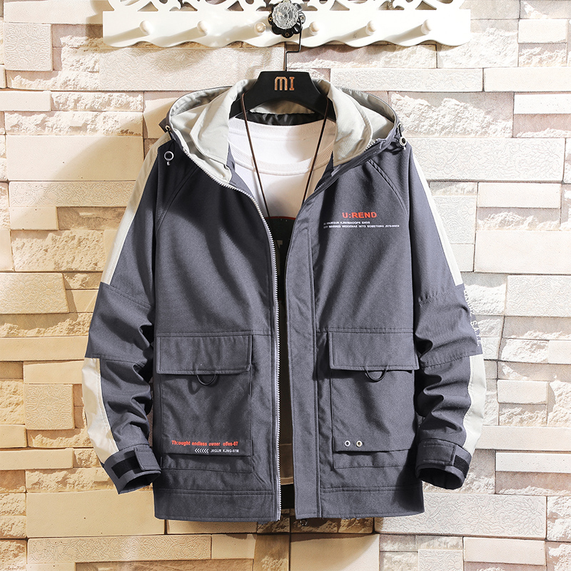 New 2020 Spring Autumn Jackets Bigger Pocket Men Classic Solid Casual Fashion Jacket Plus Asian Size M-4XL