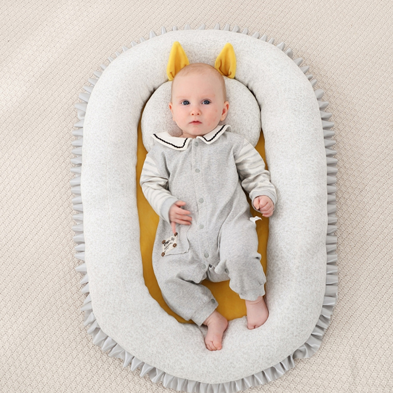 Baby Bassinet For Bed Portable Infant Baby Lounger For Newborn Crib Breathable And Sleep Nest With Pillow