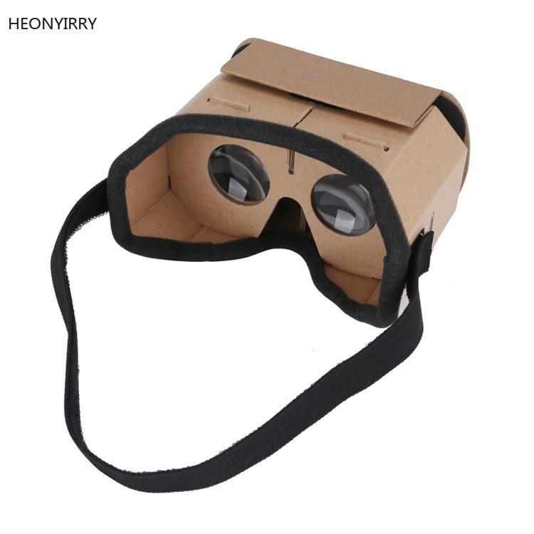 DIY Portátil Óculos de Realidade Virtual Óculos Google Papelão 3D 42mm lente VR óculos Para SmartPhones Para O Iphone X 7 8 VR Óculos 3D/realidade virtual    -