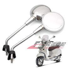 Rétroviseurs latéraux universels de moto en métal et ABS, coques en plastique, accessoires de réaménagement pour Vespa primera 50 125 150 10mm 8mm