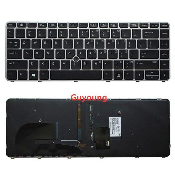 Английская клавиатура с подсветкой для ноутбука HP EliteBook 745 G3 745 G4 840 G3 840 G4 848 G3 848 G4