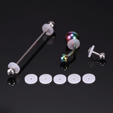 Оптовые Силиконовые диски для пирсинга, гибкие антигиперплазийные блюдца для ушей, кольца для губ, носа, мягкие прокладки