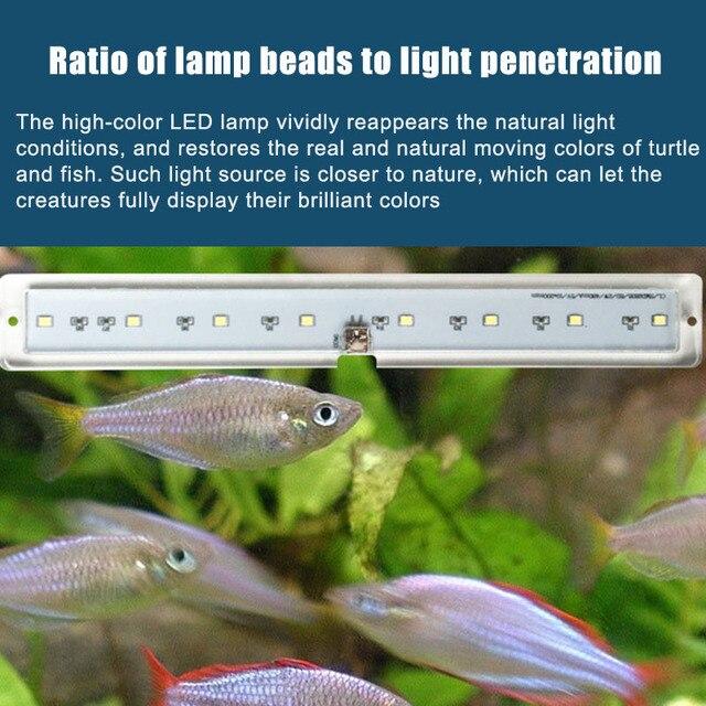Fish & Aquatic Pet Supplies LED Aquarium Lamp Plant Light Fits Tanks 3-8MM Thickness Aquatic Lamp Aquarium Bracket Light Hot 6