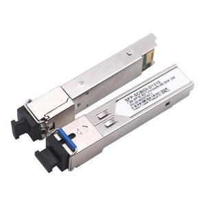 Image 4 - 1pair SC SFP Module Gigabit BIDI 1000Mbps Fiber Tranceiver  Module Mini GBIC SFP Module Compatible with Mikrotik/Cisco Switch