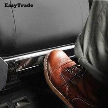 Car Back Seat anti-kick plate anti-scratch pad stainless steel trim Accessories 2pcs For Audi A4 Interior