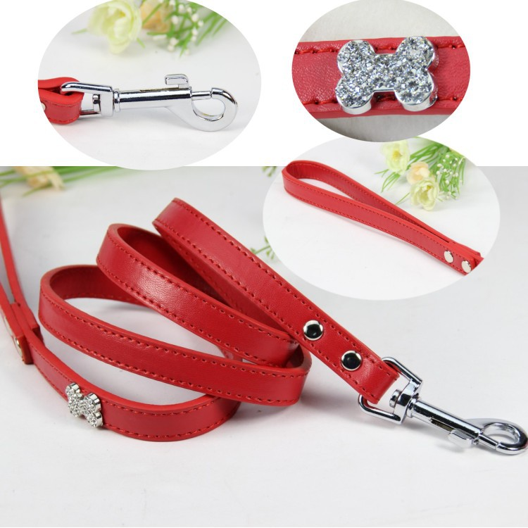 Special Offer Brand High Quality Pink Rhinestone Ornament Dog Traction Belt Pet Traction Rope