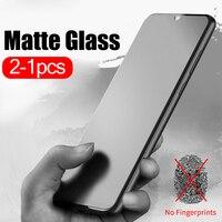 2-1 Uds esmerilado de vidrio mate para xiaomi mi 10 lite 9 xiomi xaomi a3 9t pro mi9 mi9t 8 se mi10 película protectora de vidrio templado