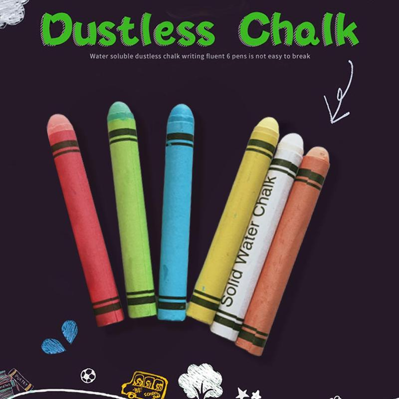 Water Soluble Dustless Chalks Pen For Teachers Blackboard Writing School Accessories Stationary Office School Education Supplies