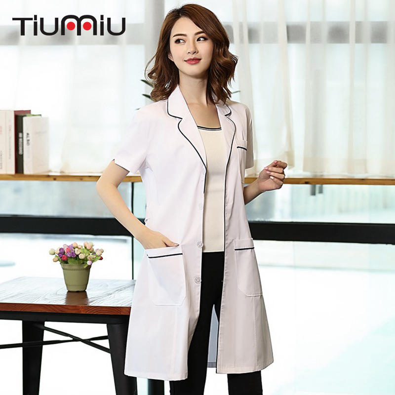 Men Women Nurse Uniform White Coat Doctor Overall Hospital Pharmacy Beauty Salon SPA Uniform Lab Coat Technician Work Clothes