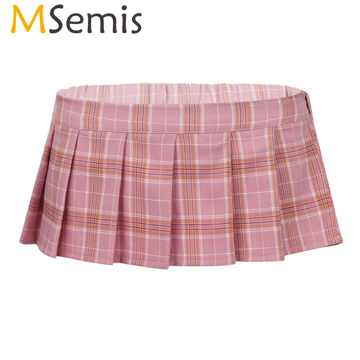 MSemis Women Super Mini Skirts Lady Sexy Japanese Schoolgirl Cosplay Roleplay Costume Lingerie Scottish Plaid Pleated Underskirt