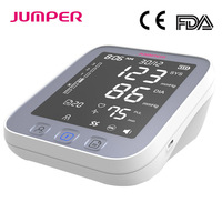 Home health care Blood Pressure Monitor Pulse measurement tool Portable Large LCD digital Upper Arm Tonometer Cuff Max 42cm