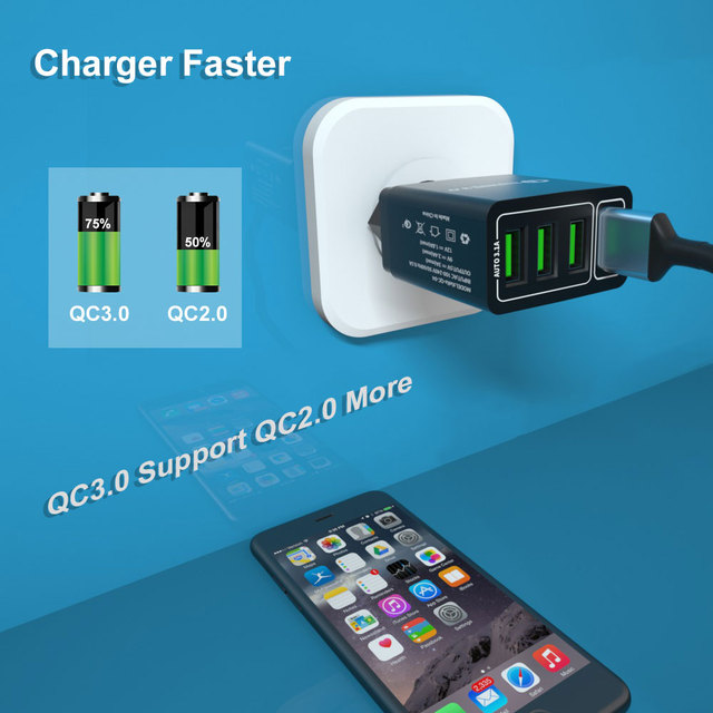 Vanniso QC 3 0 USB Charger 5V 3 1A Fast Charging for iPhone X 11pro