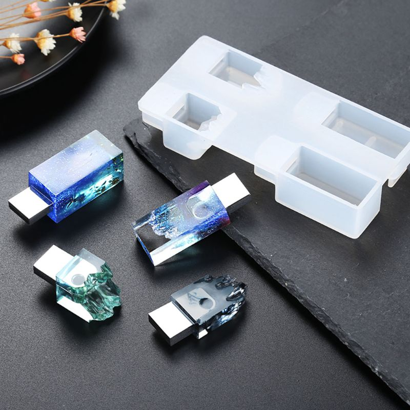 DIY Snow Mountain USB Resin Molds Set With 8G USB Driver Epoxy Resin Making Mold
