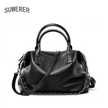 SUWERER New Women Genuine Leather bag luxury handbags women bags designer cowhide leather shoulder bag women crossbody bags for qiwang genuine leather bag women luxury handbags women bags designer chain shoulder bags for women new year red bag quality gift