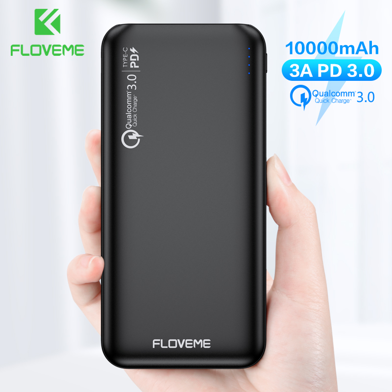 FLOVEME QC3 0 Power Bank 10000mAh Quick Charge 3 0 For Xiaomi Powerbank 10000 mAh PD