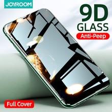 Protetor de tela privado para iphone 12 11pro max x xs max xr anti-spy vidro temperado para iphone 12 mini privacidade vidro joyroom